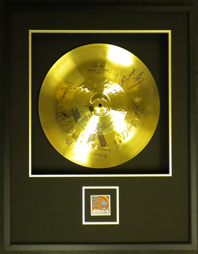 Allman Brothers Signed Cymbal & VIP Pass