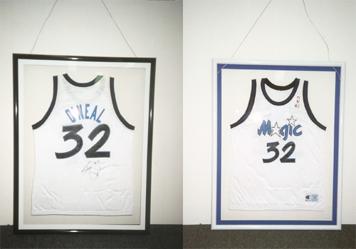 Basketball Jersey double framed to display front & back