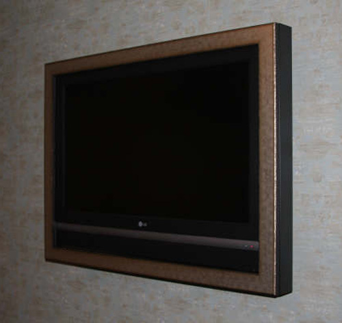 TV Double Framed to fit depth of panel