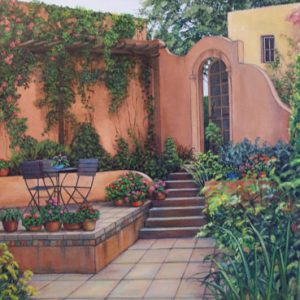 Adobe Patio Large on Canvas