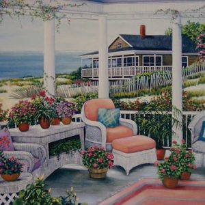 Beach House on Canvas
