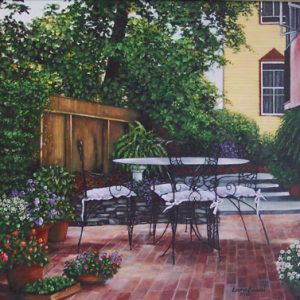 Cape May Patio on Canvas