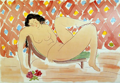 Reclining with Roses