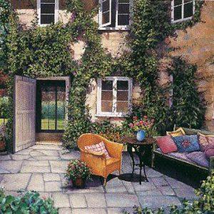 Courtyard Garden on Canvas
