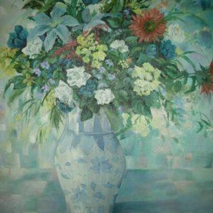 Blue & White Vase LB187