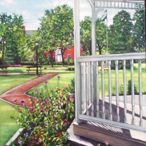 Through the Gazebo Painting