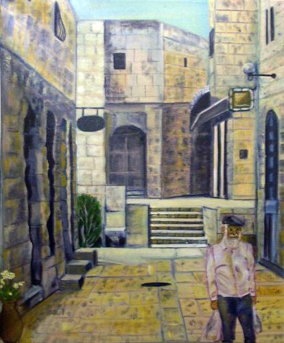Jerusalem Street Scene II M