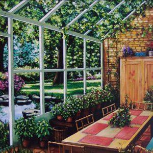 Sun Room Dining on Canvas