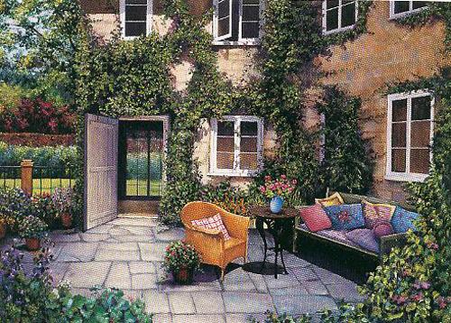 Courtyard Garden on Paper