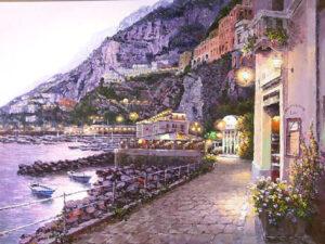 Amalfi Night (Painting)