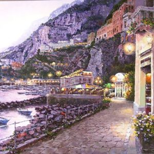 Amalfi Night (Painting)