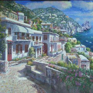 Capri Hillside (Painting)