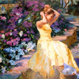 The Yellow Dress - Painting