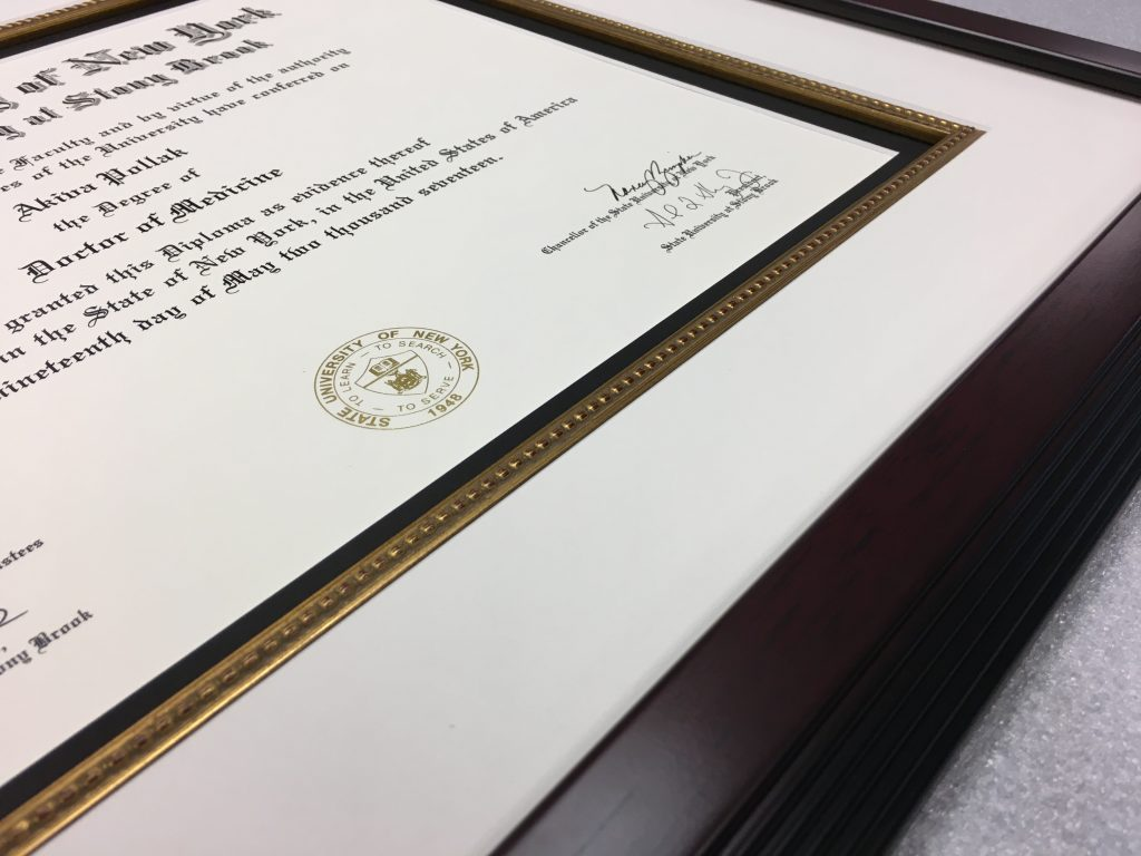 Diploma fillet framed2