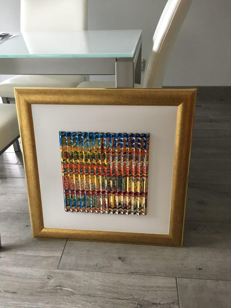 Agam framed 4