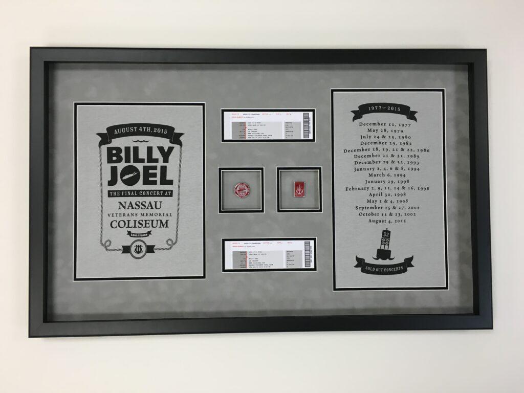 Billy Joel Montage FRAMED