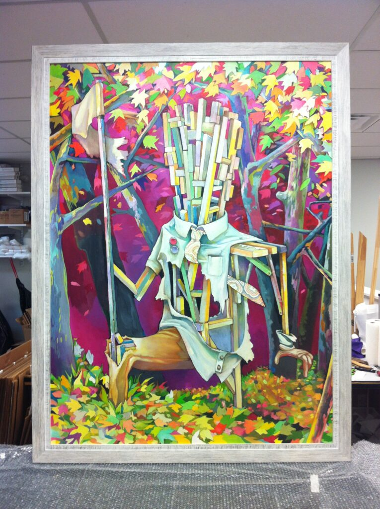 Creepy art whitewash frame
