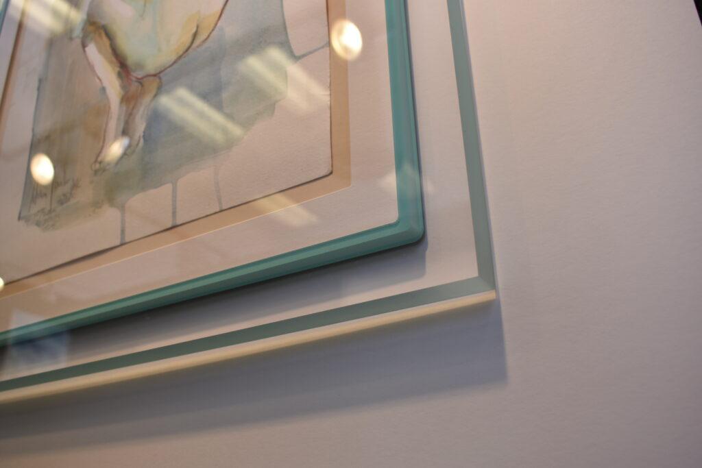 Clear Acrylic Prisma Frame with blue inner lip