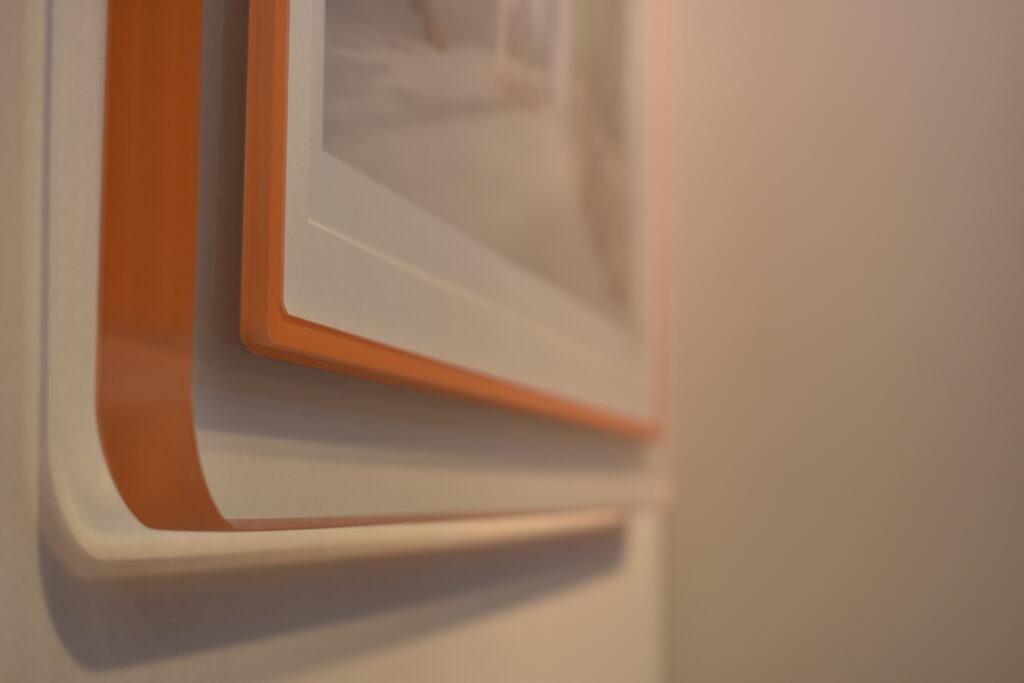 Clear Acrylic Prisma Frame with orange lip