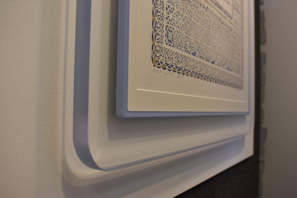 Clear Acrylic Prisma Frame with blue lip