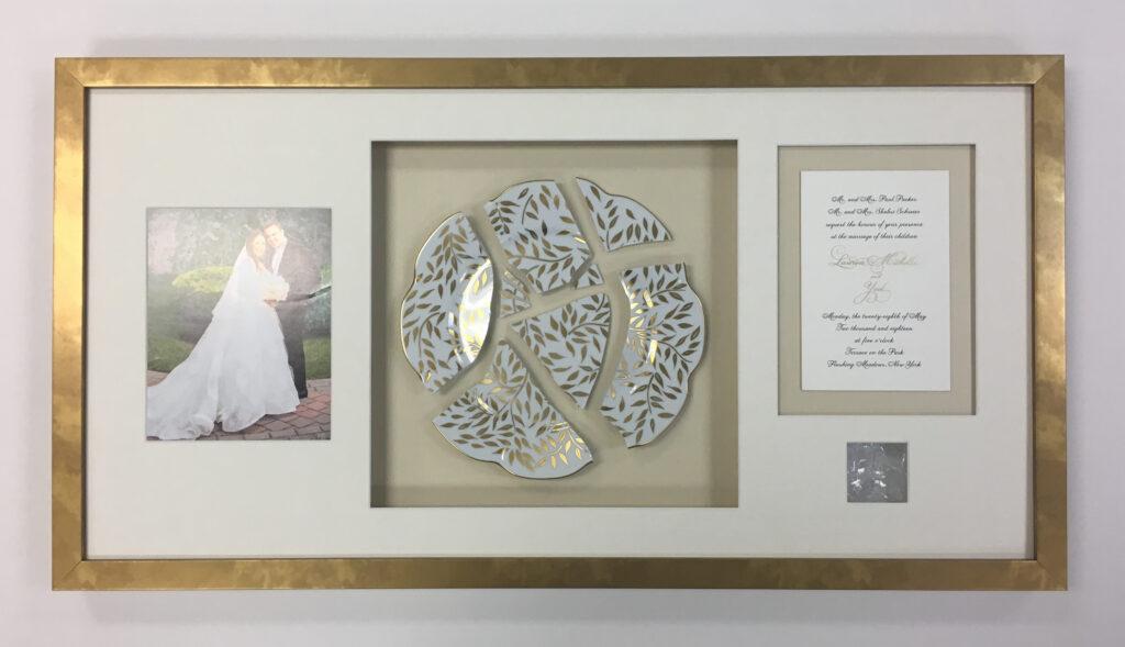 Wedding invite plate glass