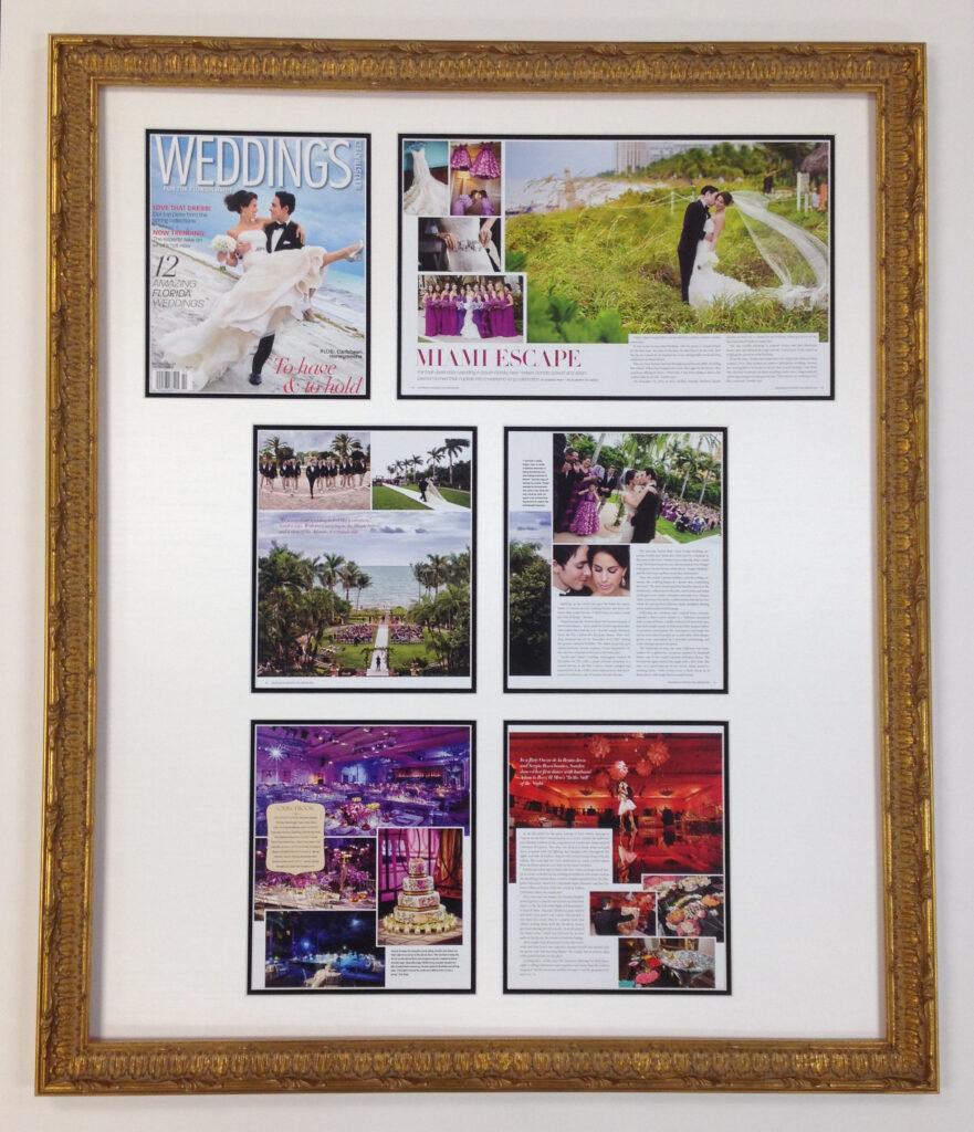 Wedding magazine montage